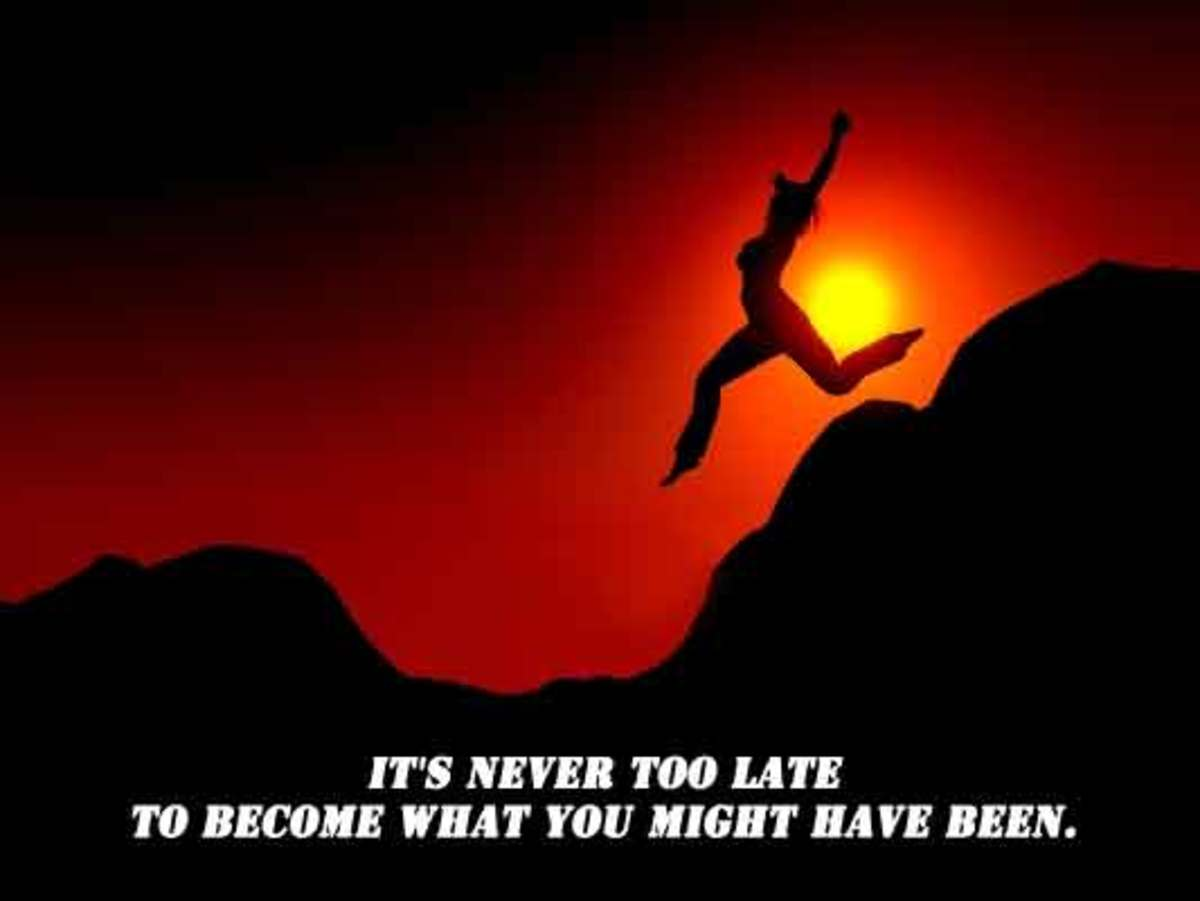 Motivational Fitness Poster - Its never too late to become what you have been