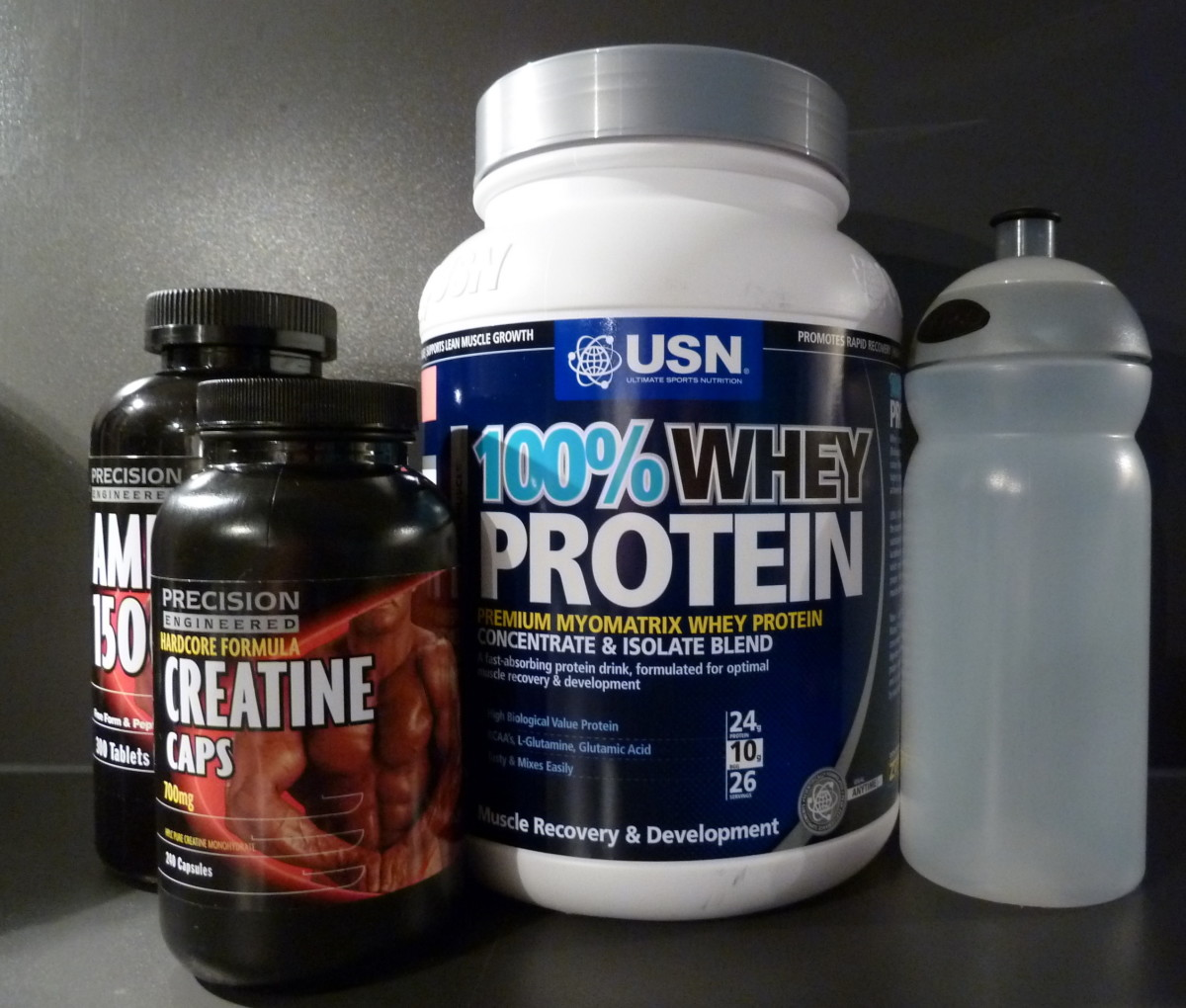 Supplements for contest's 1 week nutrition plan.