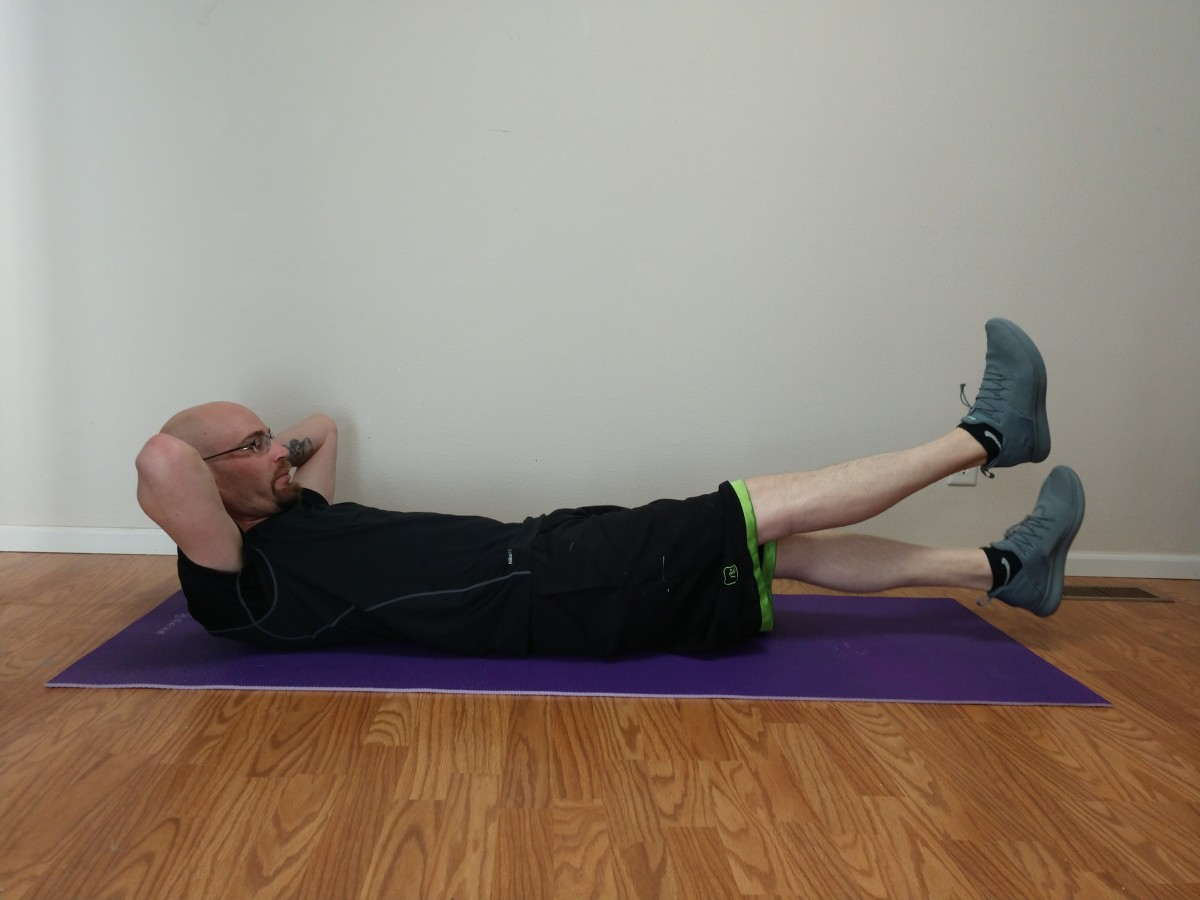 Keep your abdominal muscles tight, pulling them down toward the floor.
