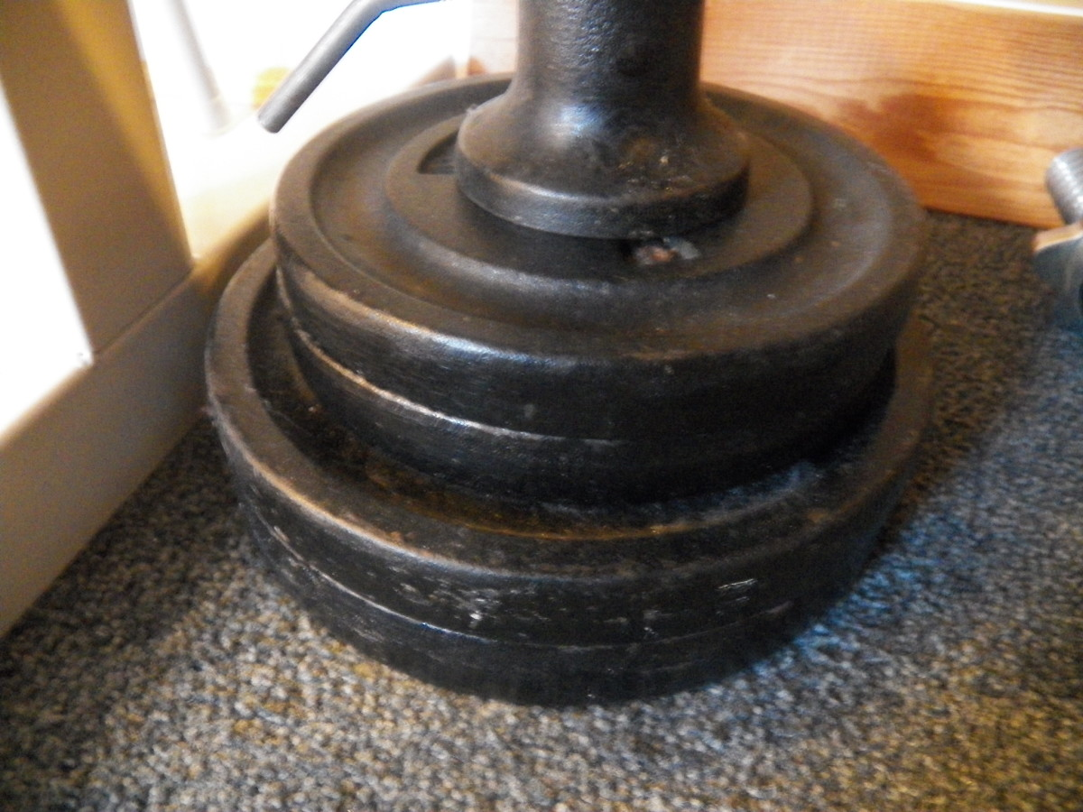 How to clean iron weights.