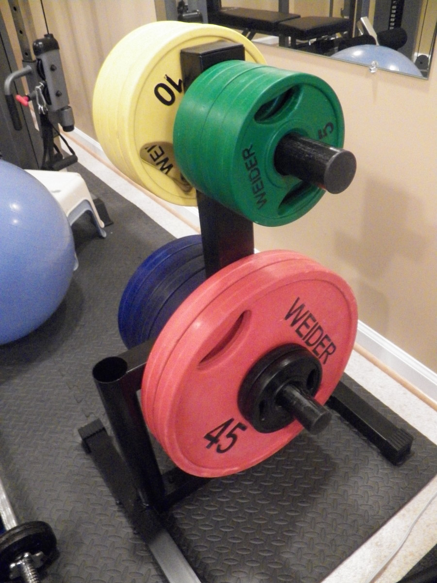 how to clean weight plates