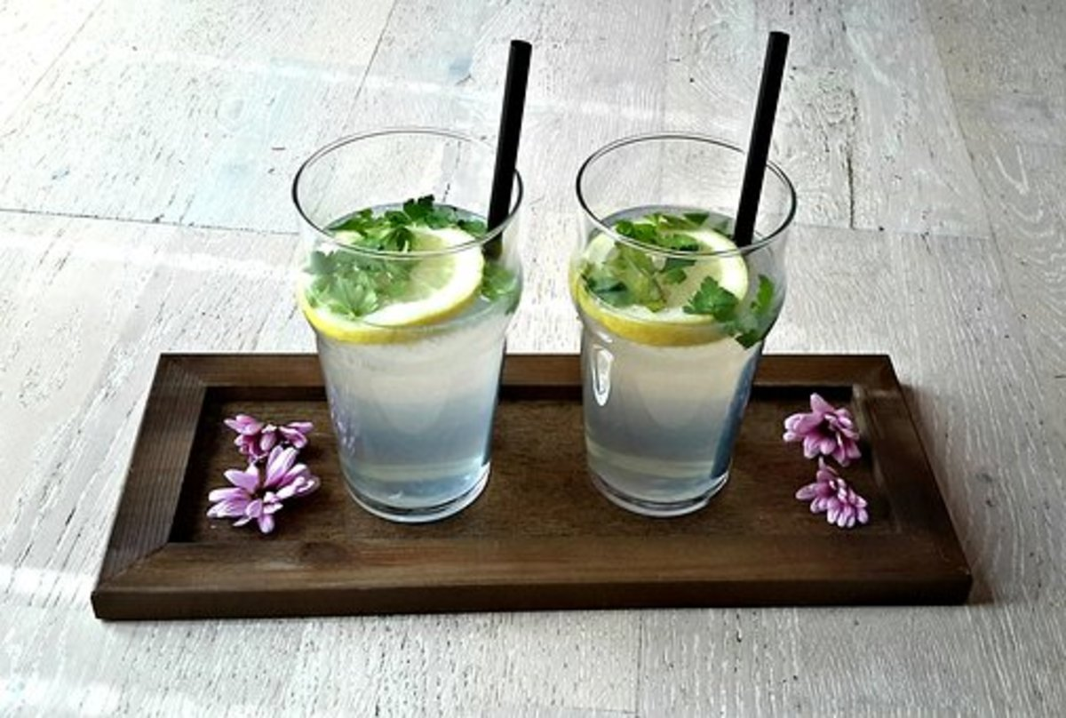 Lemon water for two!