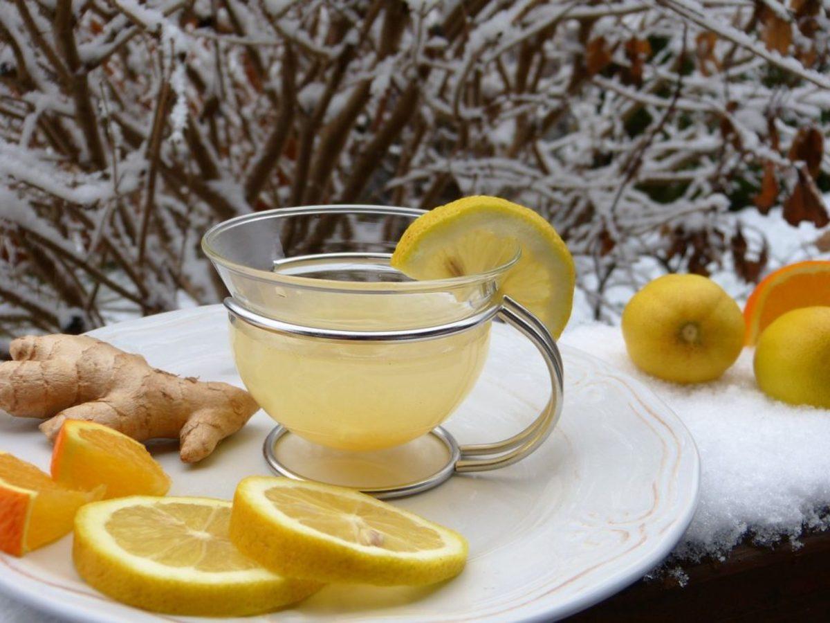 Winter lemon drink