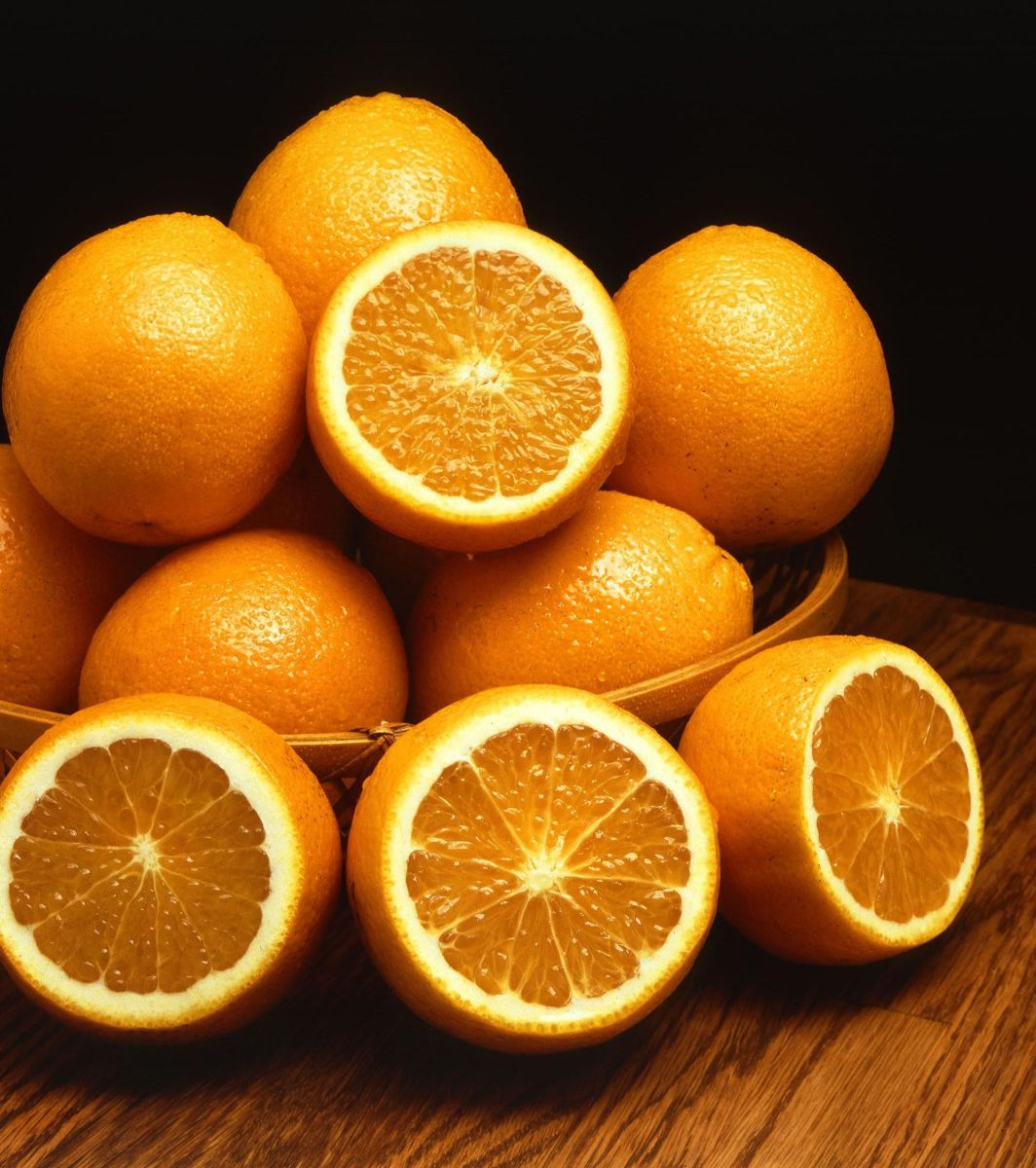 Oranges are an abundant source of Vitamin C.