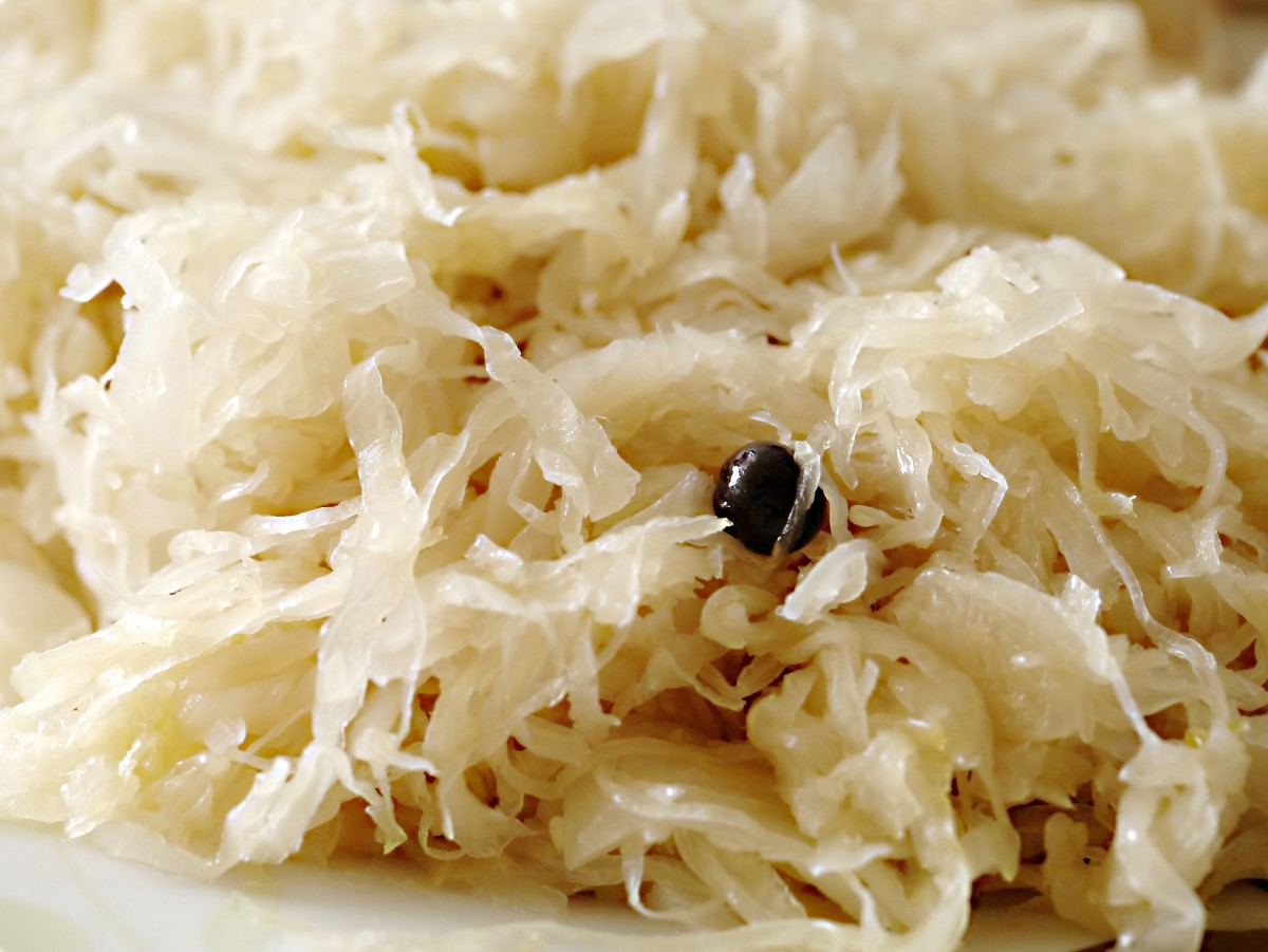 Natural sauerkraut is a good source of probiotics.