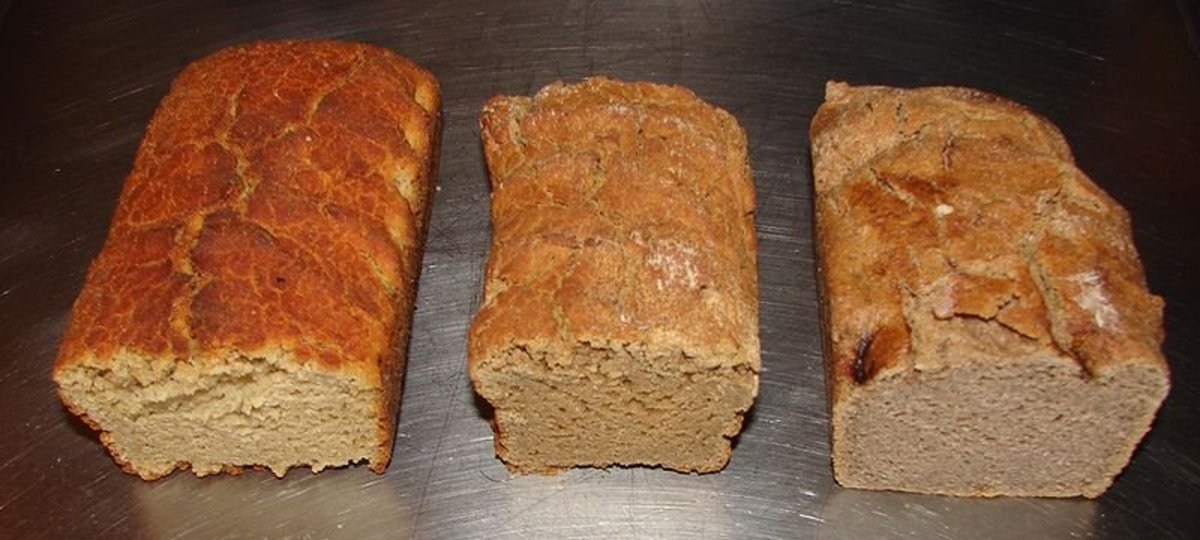 Three organic and gluten free super grain loaves (Quinoa, Teff and Buckwheat)