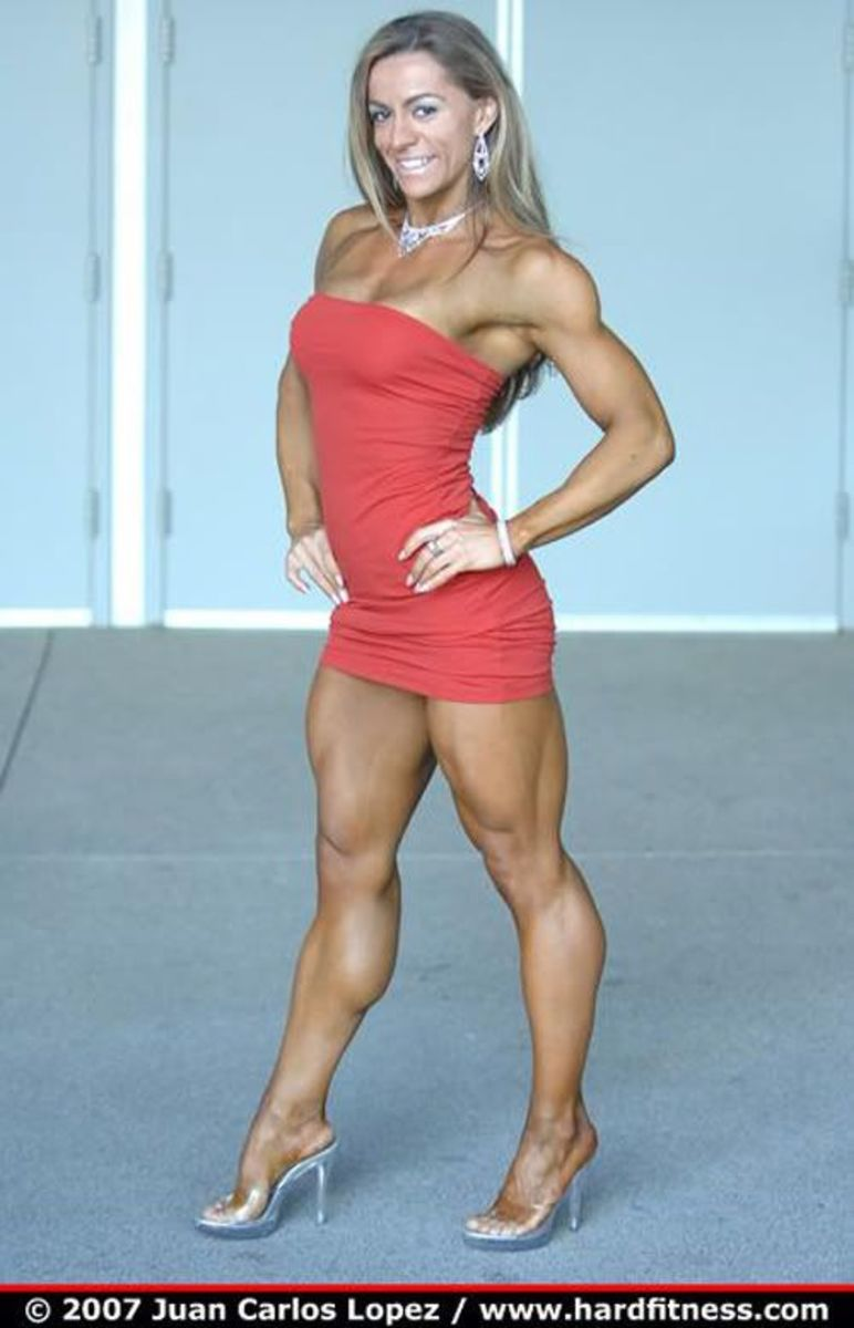 Asian girl muscle legs winners