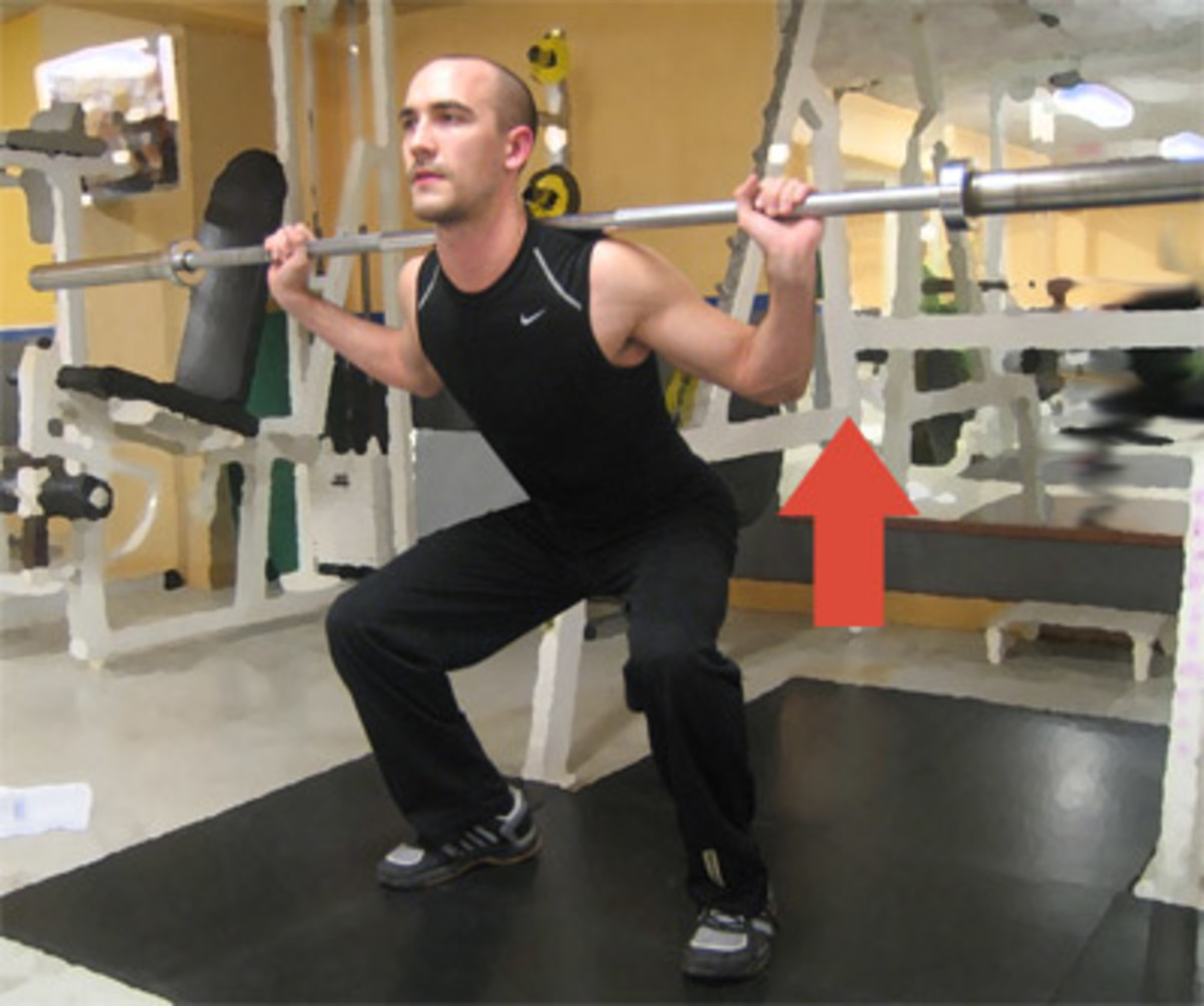 Man doing squats