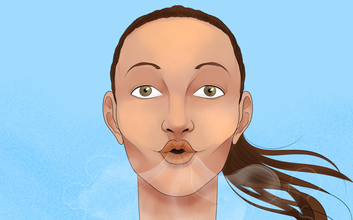 Exhaling through pursed lips is a great way to reduce a feeling of breathlessness while making each breath more efficient.