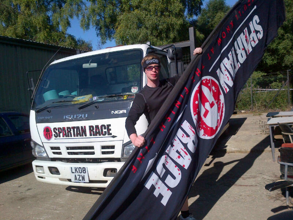 Dressed ready for Spartan Race Ripon, UK 2013