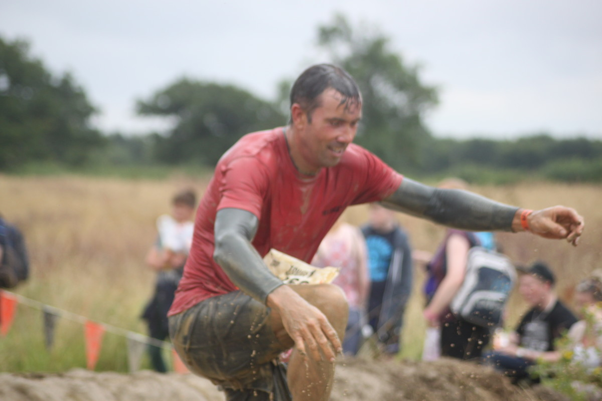 As clothing gets soaked it takes in water and extra weight you have to carry with you through obstacle events.