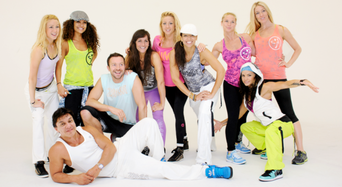 Beto Perez and his posse wearing licensed Zumba Fitness Clothes
