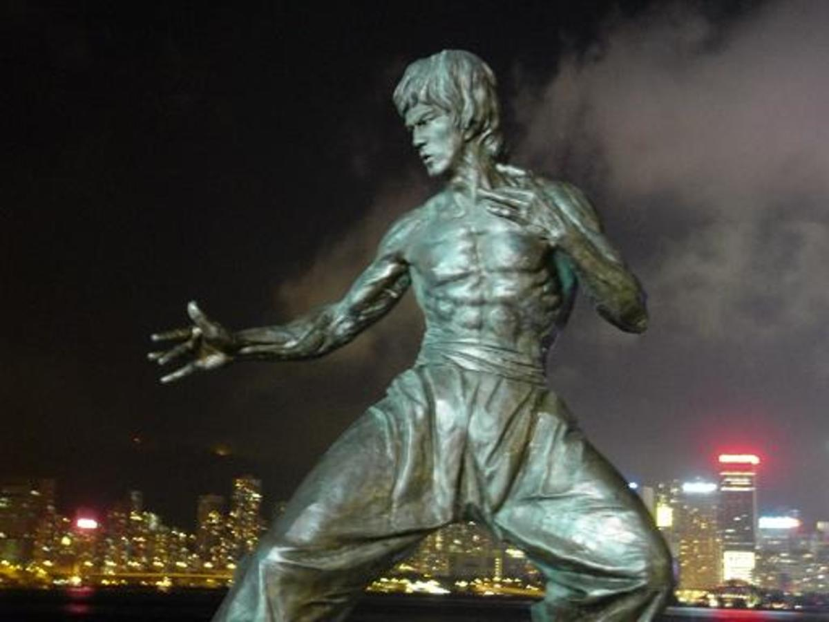 Statue of Bruce Lee in Hong Kong.