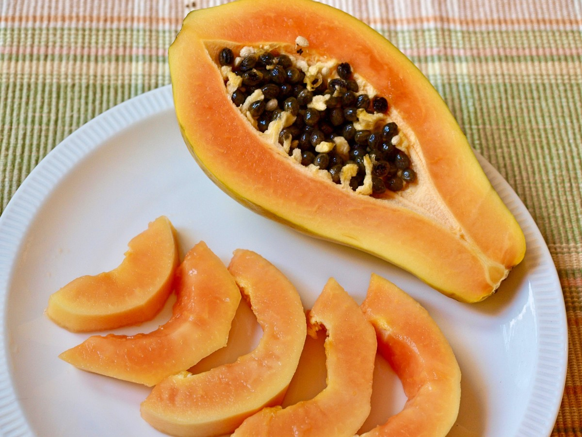 The enzyme papain, abundant in papaya, is a digestive aid and a powerful antioxidant. That's why papaya is so widely used in cosmetics and skin care products.