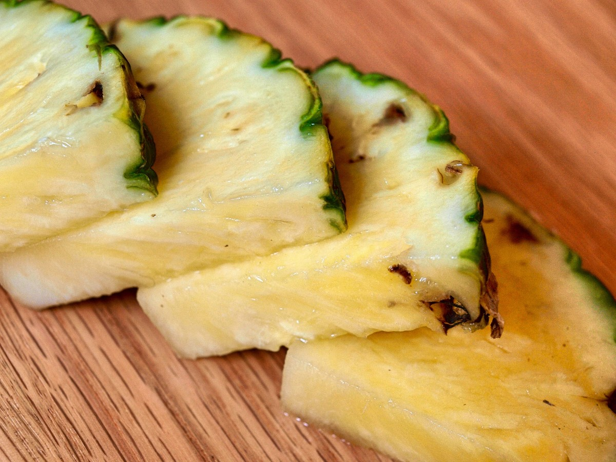 Pineapple is rich in antioxidants and an enzyme called bromelain, a gentle exfoliant.
