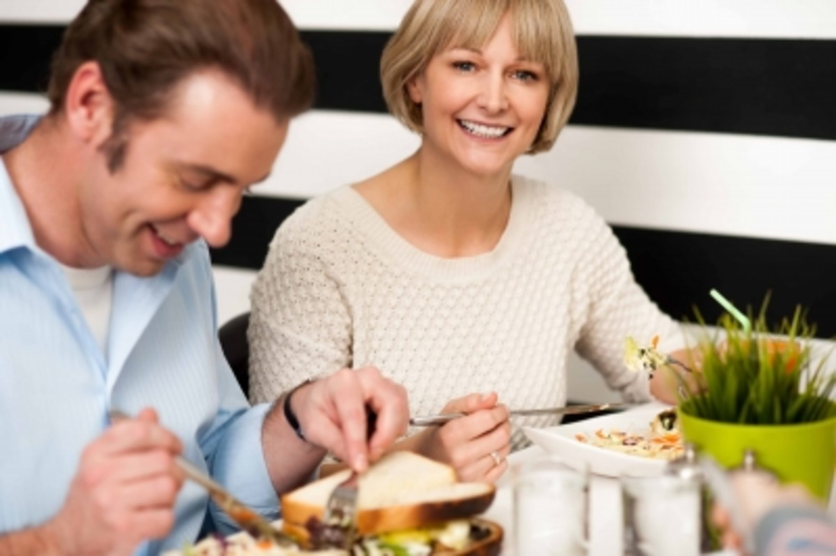 Couple Enjoying Breakfast in Restaurant. 13 October 2013 Stock photo ID 100209404   By stockimages