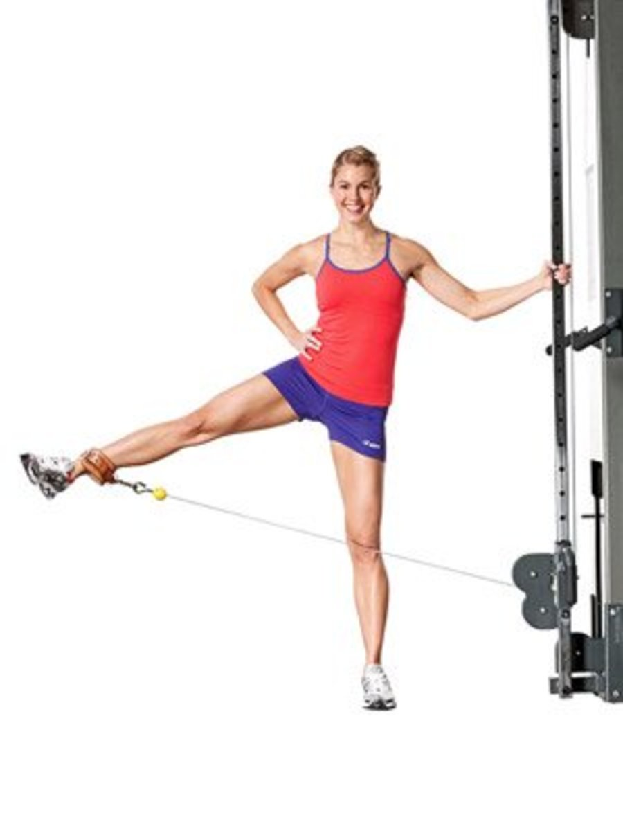 Side Leg Lift Using Cable Machine or Weighted Leg Lift