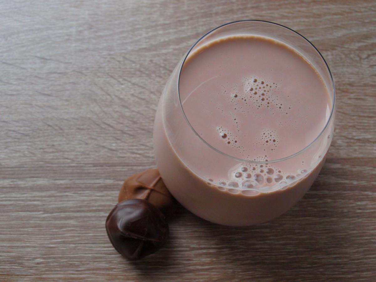 A protein powder shake