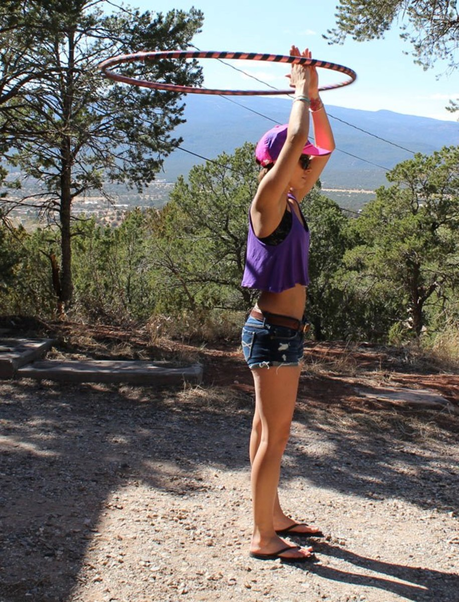 Hooping is a great way to exercise and enjoy the outdoors!