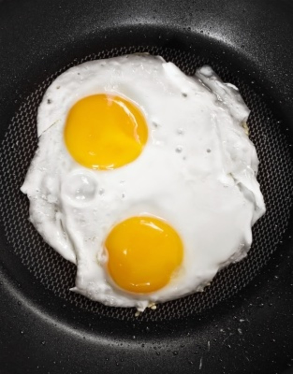 Two eggs for breakfast