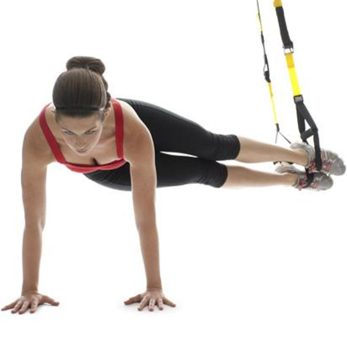A pendulum exercise using TRX.
