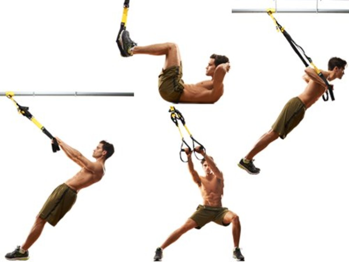 This poster demonstrates four exercises.
