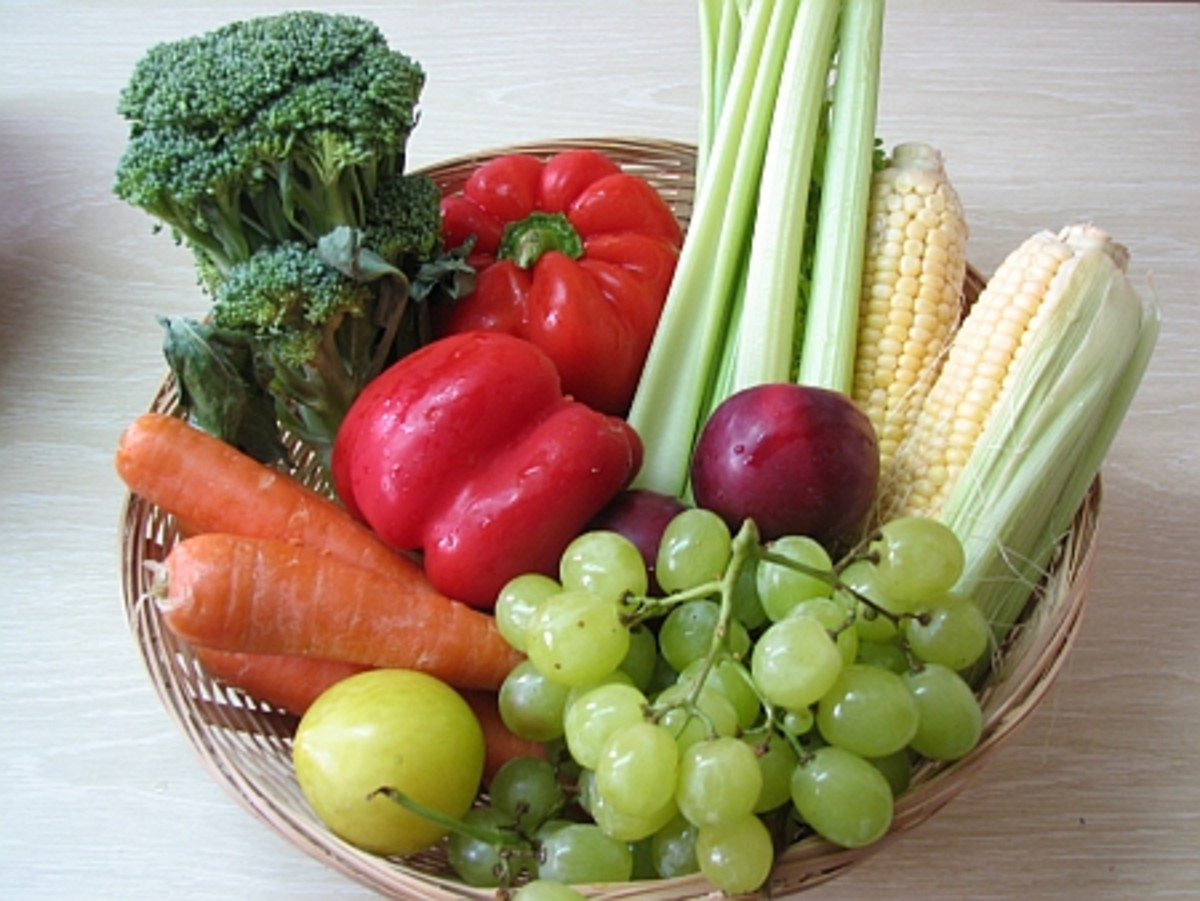 Eat an assortment of healthy vegetables and fruits everyday for good health