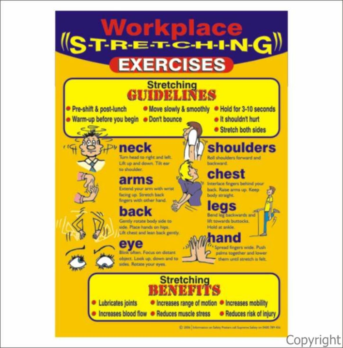exercise-made-fun-and-safe-work-safety-stretching-posters
