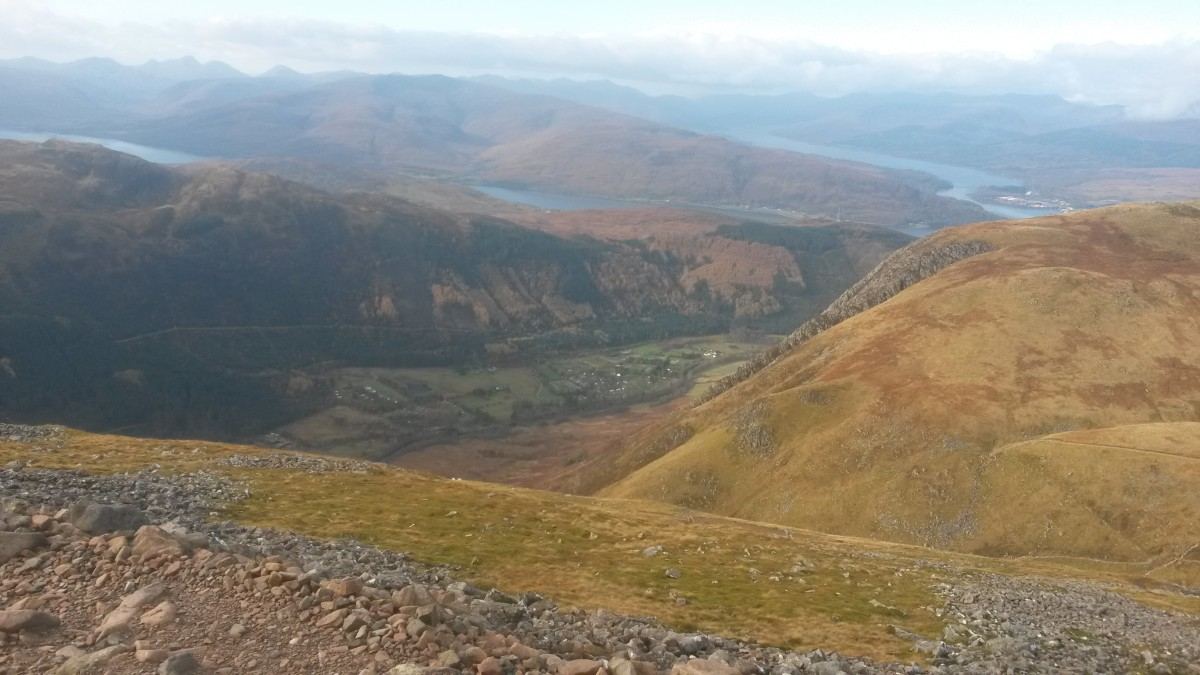 Ben Nevis and the Scottish Highlands- Perfect weather conditions for the Kamleika Race Smock II with intermittent sun and rain.