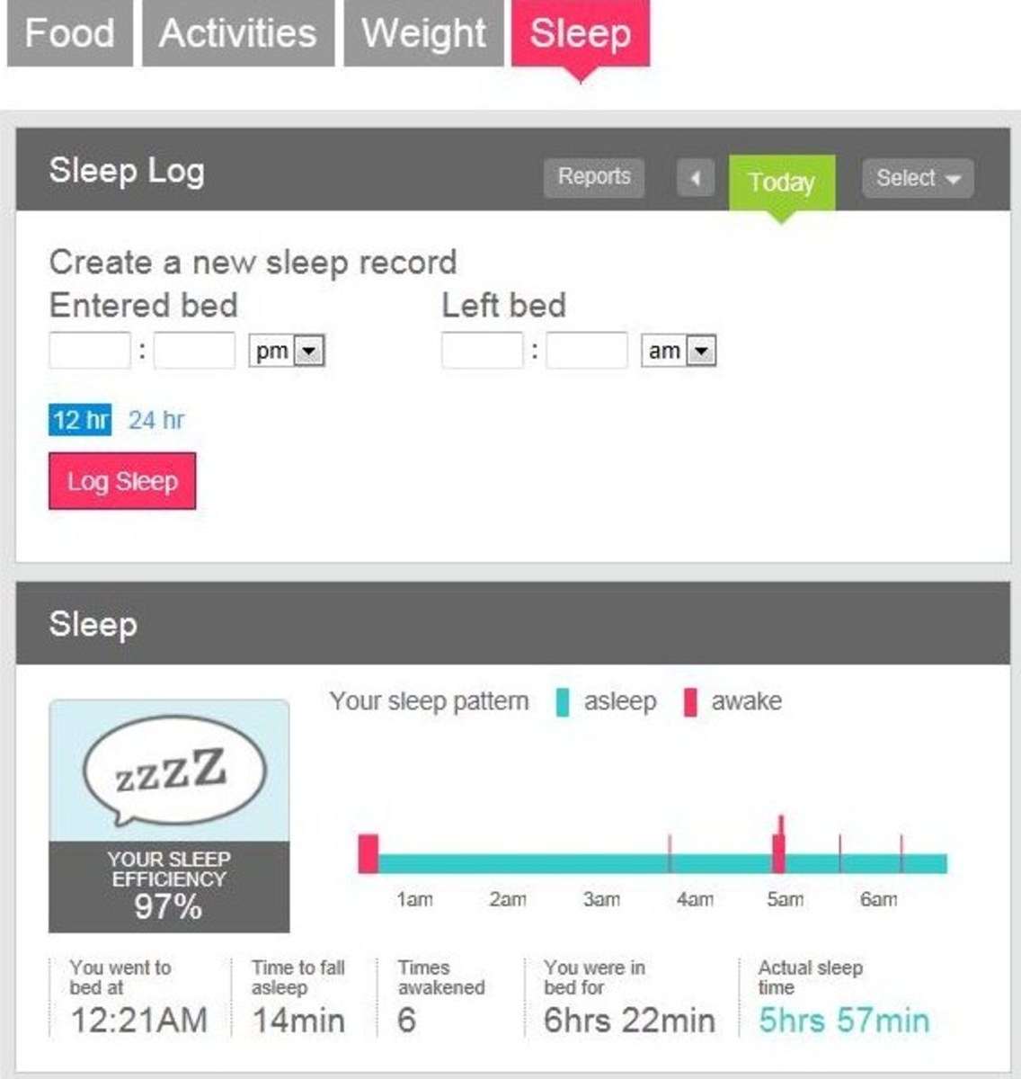 Setting your Fitbit's sleep tracker.