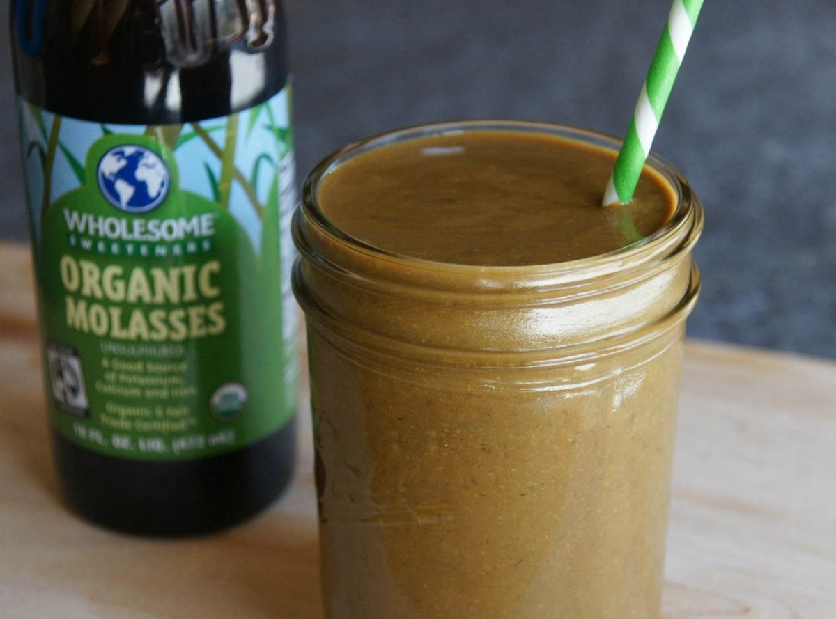 Blackstrap Molasses are and excellent source of iron and taste great in smoothies.