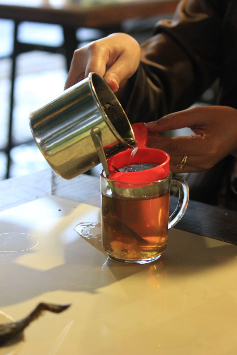 """The tea definitely """"flushed"""" my system, but 8-10 glasses of regular drinking water could do that, too."""