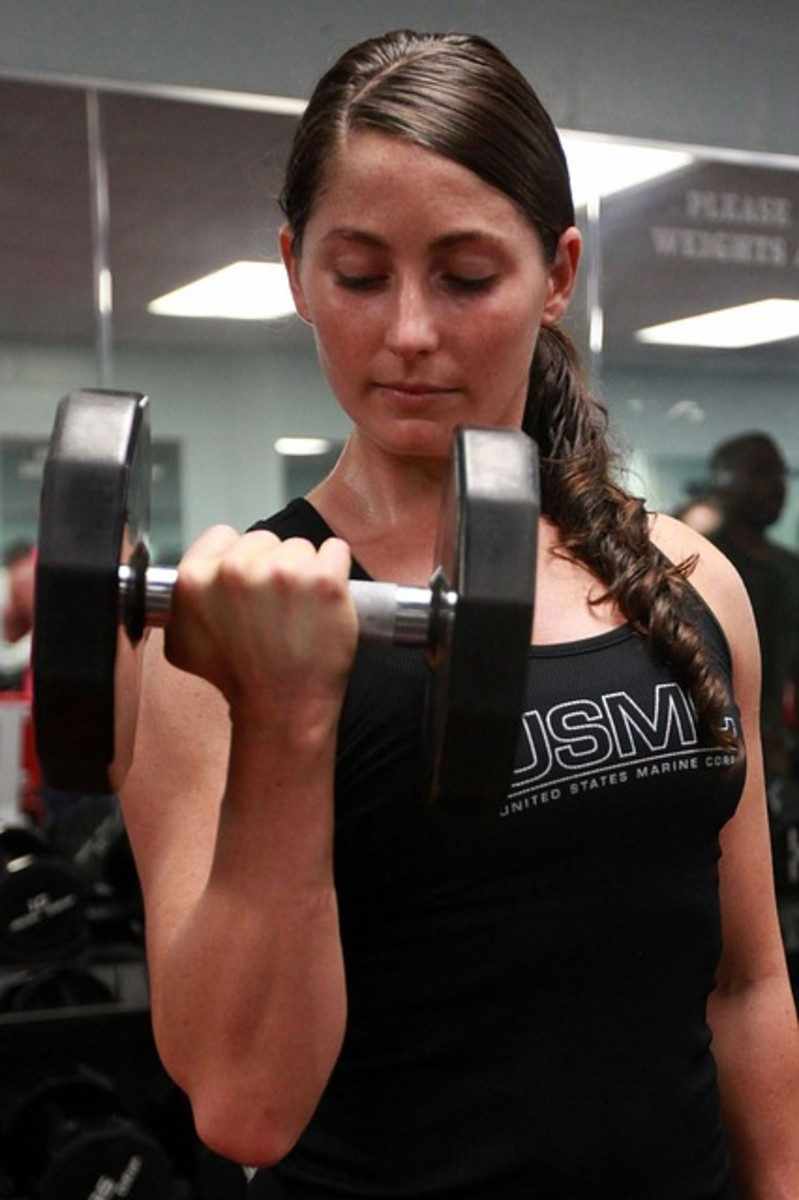 Barbell workout routine for women.
