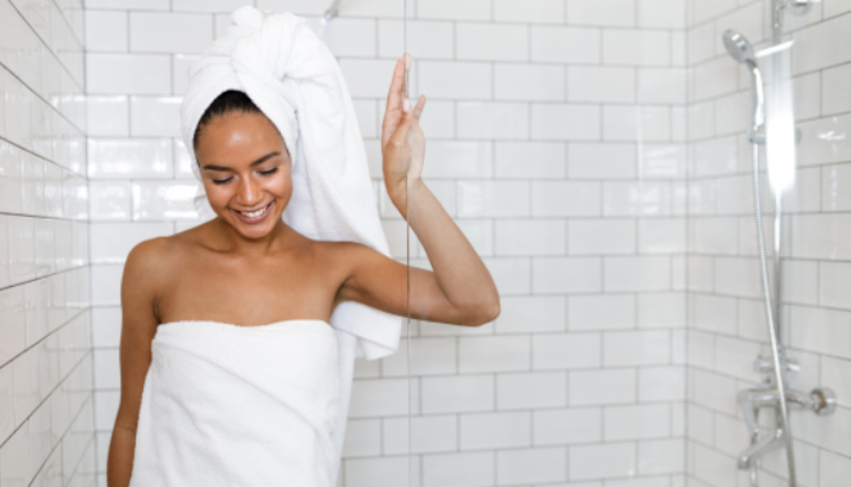 A hot shower followed by a standing, towel, pat down is a good calorie burning habit to have.