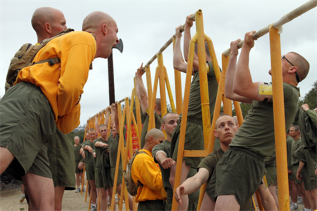 Pull-ups/chin-ups are the Marines bodyweight exercise of choice.