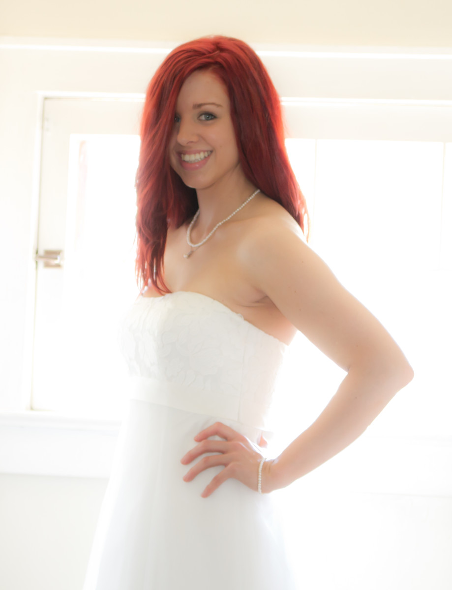 My wedding day. I felt confident and beautiful after staying consistent with Metamorphosis and eating healthy!