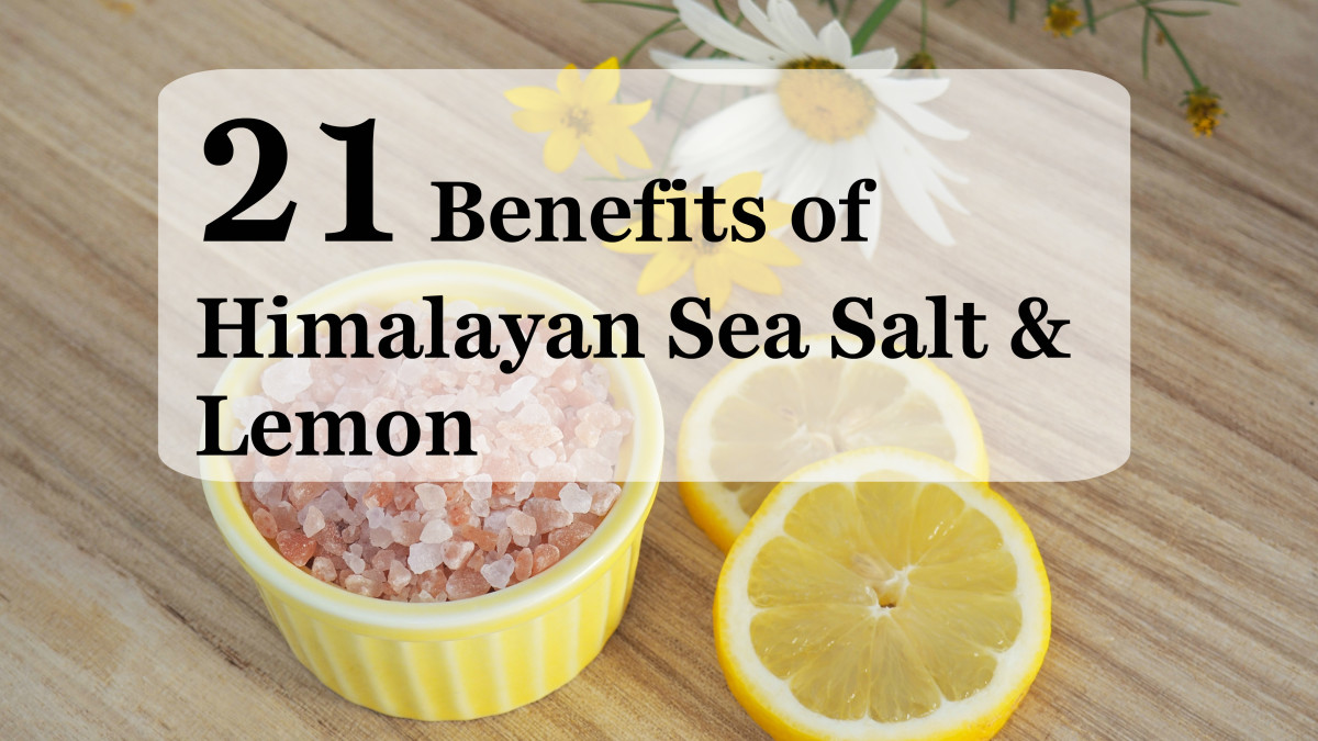 Himalayan sea salt and lemon is a great tonic for healthy skin and digestion, plus a number of other benefits.