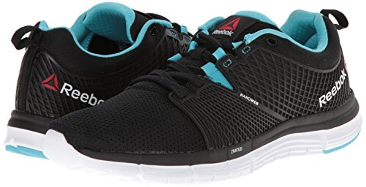Reebok Women's Zquick Dash Running Shoe, Black/Blue Pool/White