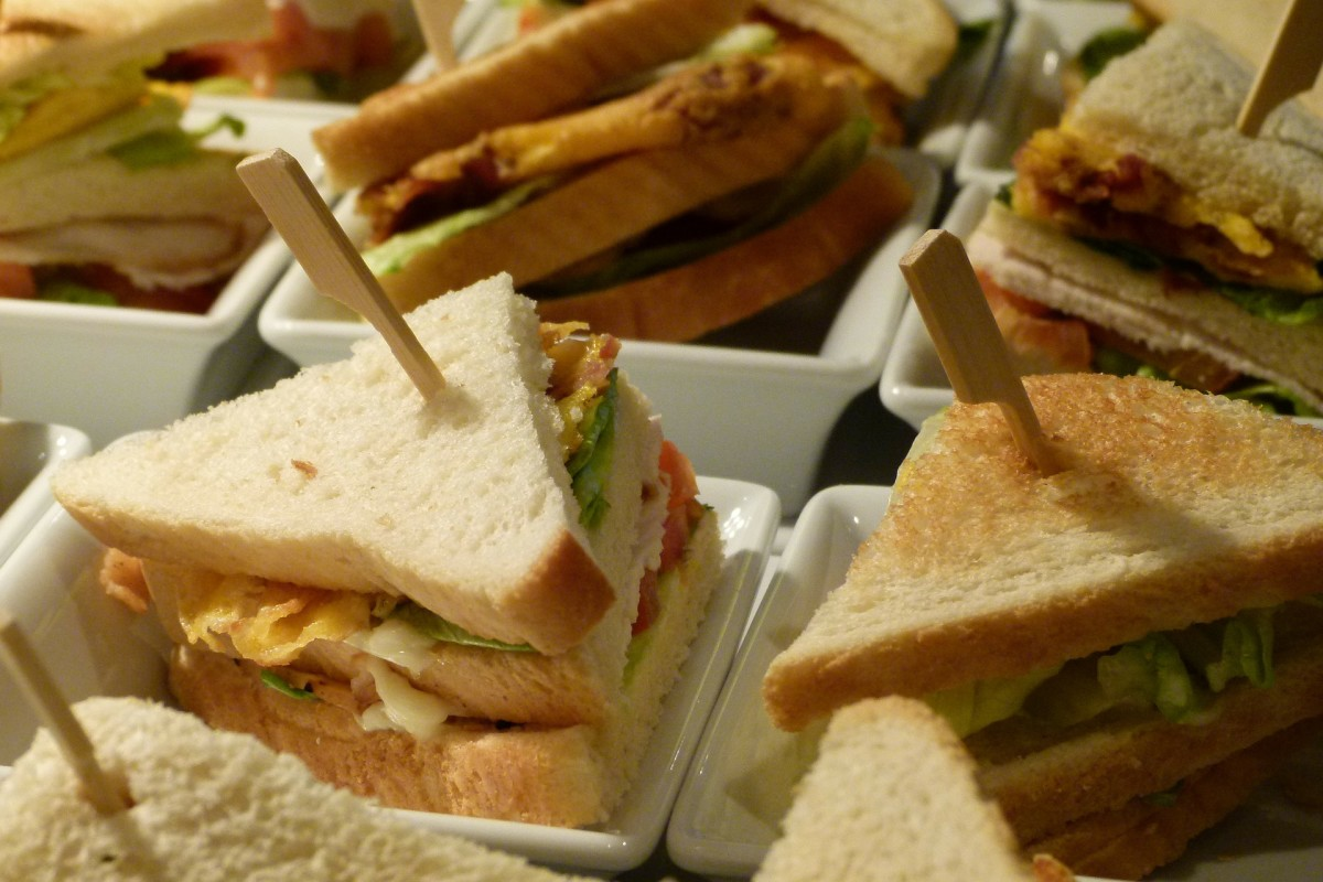 The turkey meat in your club sandwich is a great source of tryptophan which can help boost your mood and put a smile on your face.