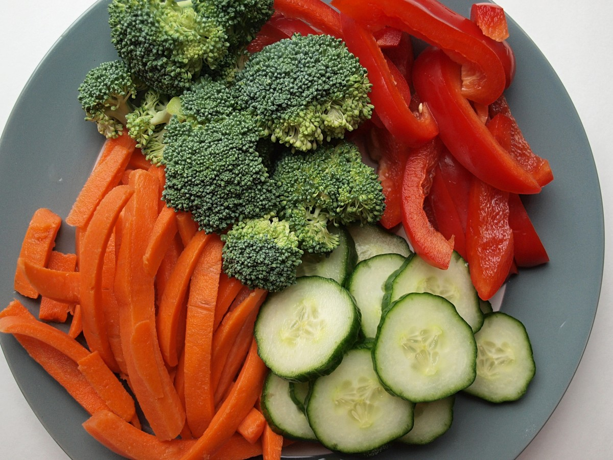 Keep a container of chopped raw vegetables in the fridge so snacking on them is easy.
