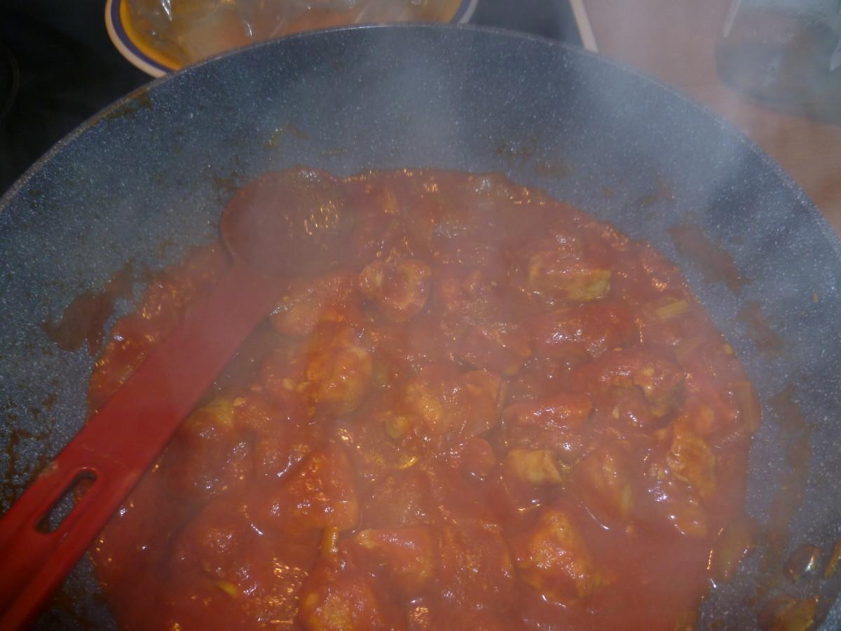 Add and stir in the tomato passata