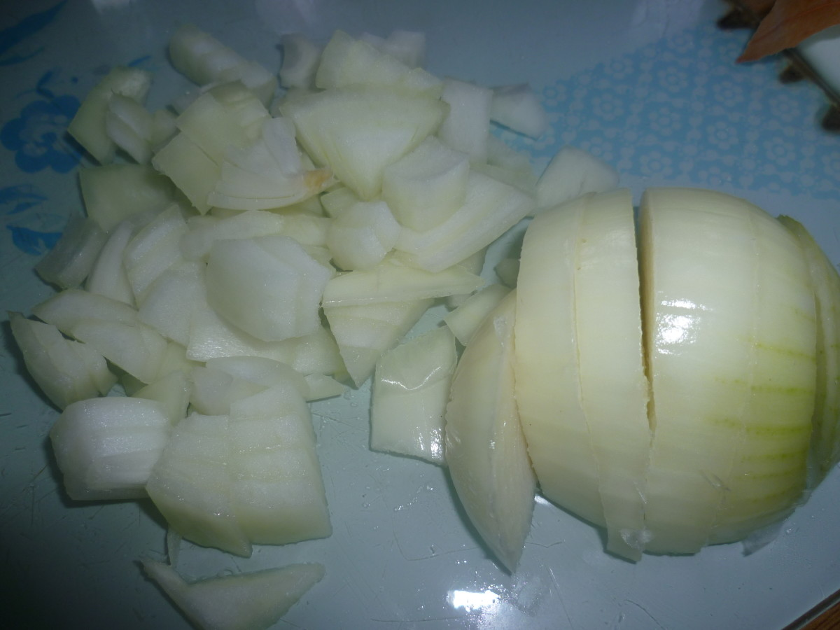 chop the onions - but not too small
