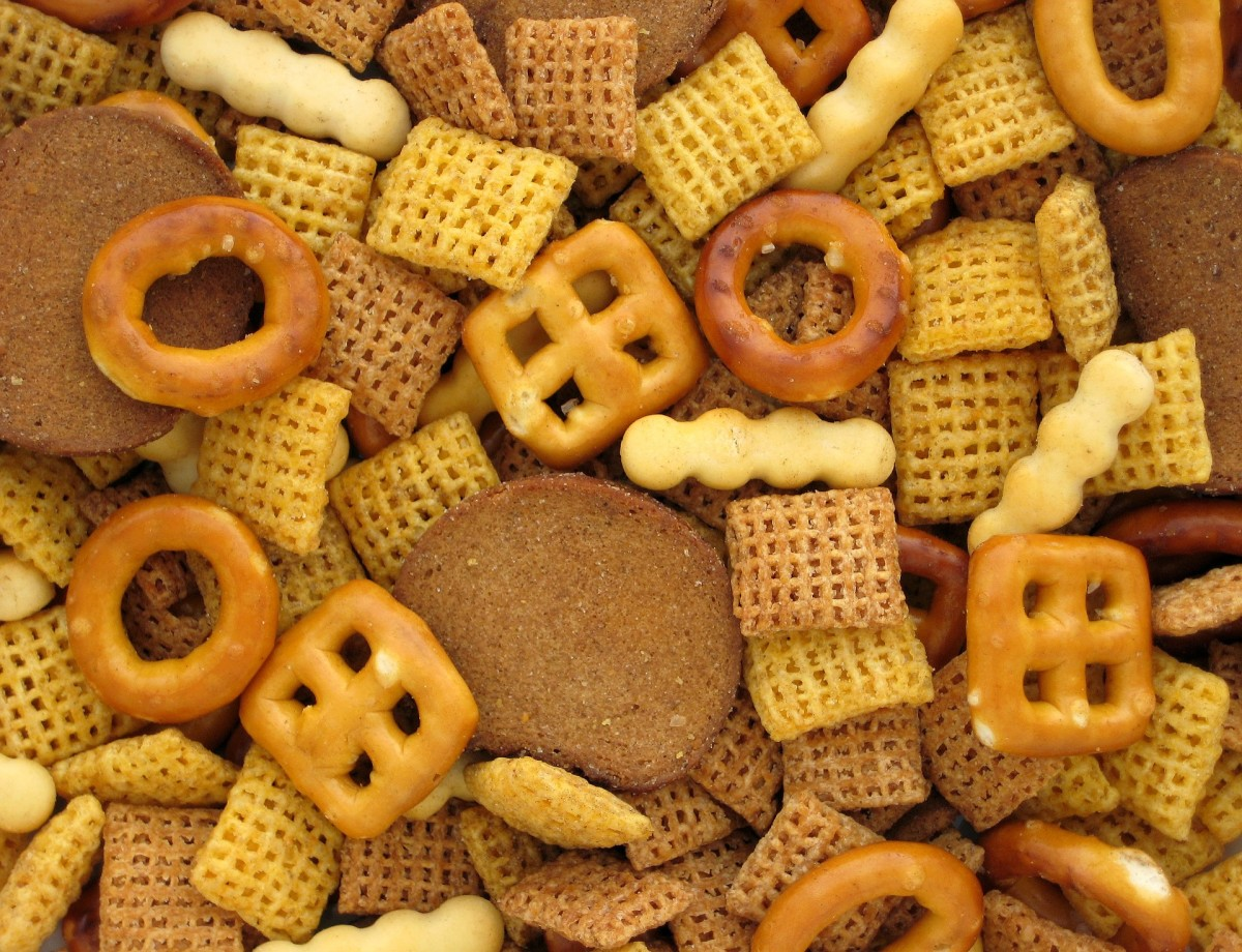 If you do eat processed salty snacks and crackers, portion your snack into a small bowl to avoid mindlessly overindulging.