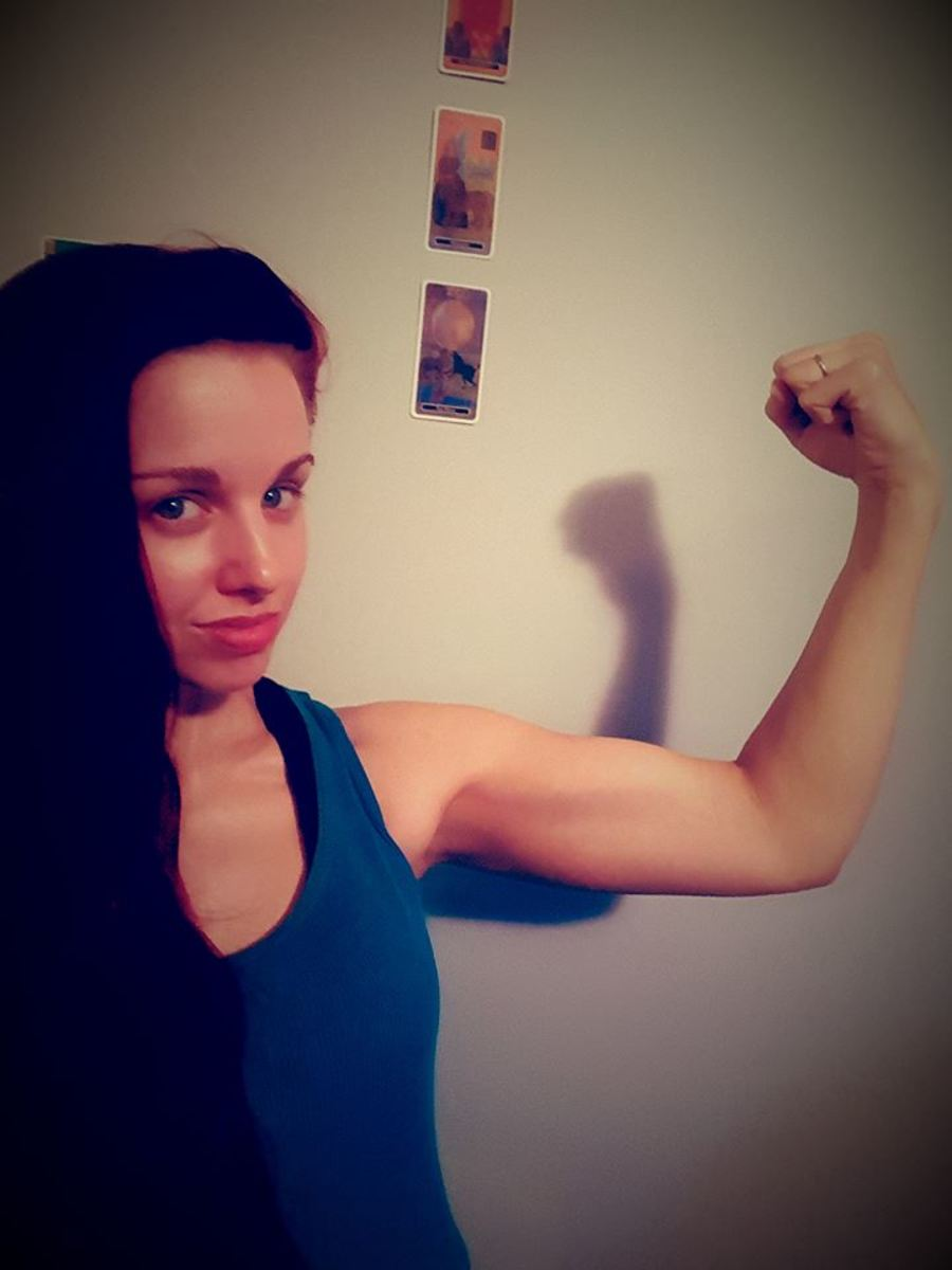 Day 18 of the challenge. I was pretty impressed with my arms.