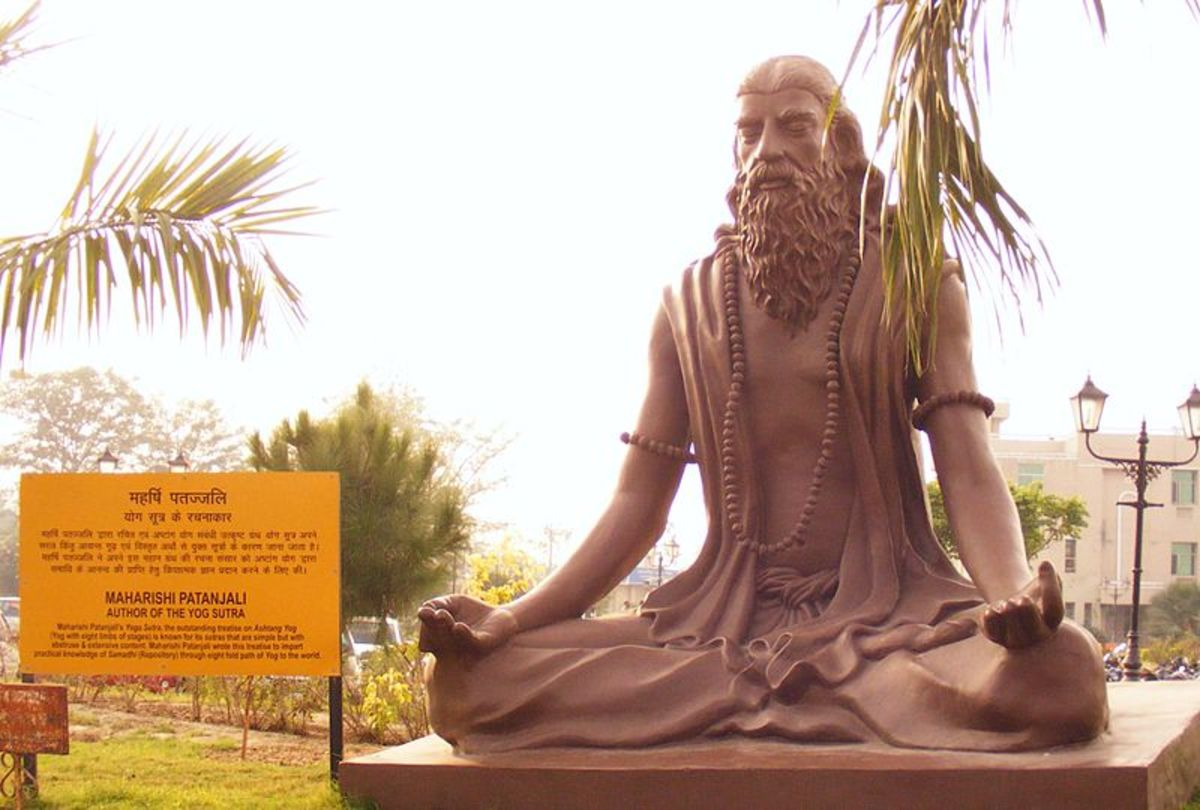 Modern statue of Patanjali, author of the Yoga Sutras, in Haridwar, India.