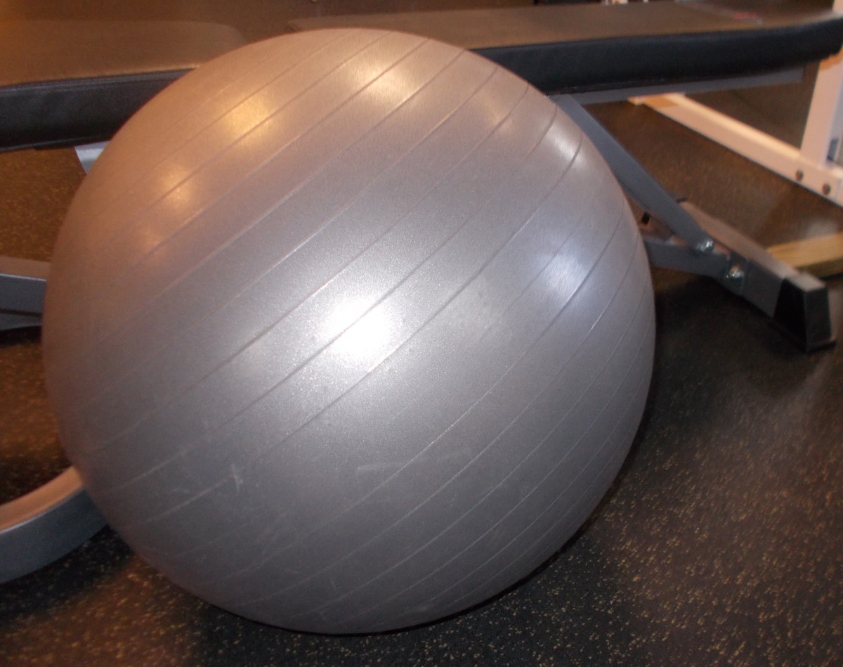 Using an exercise ball can enhance your workout.