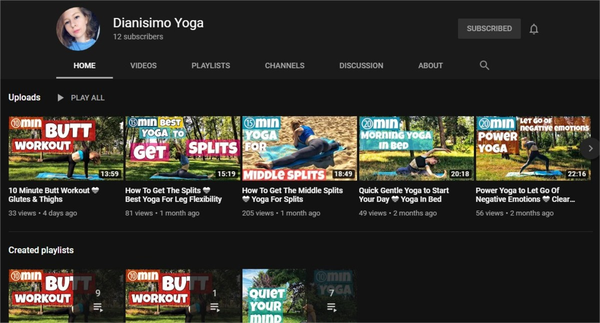 Yoga for Beginners | The Best Online Yoga Classes (6 Great Yoga and Fitness YouTube Channels) | Dianisimo Yoga
