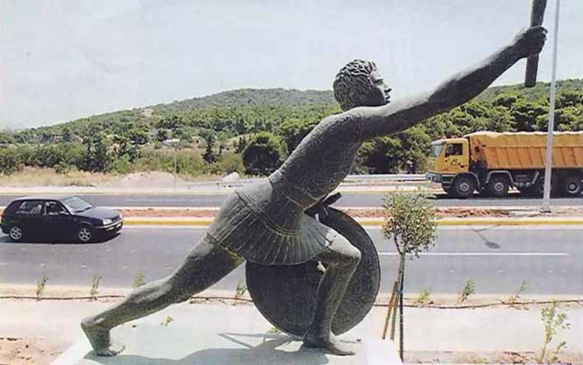 Statue of Pheidippides.
