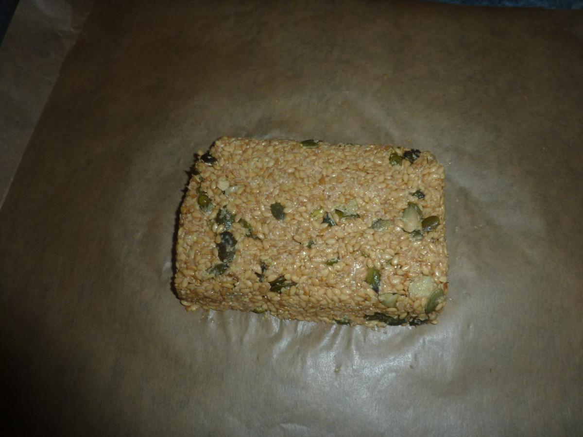 Shape the dough into a rectangle.