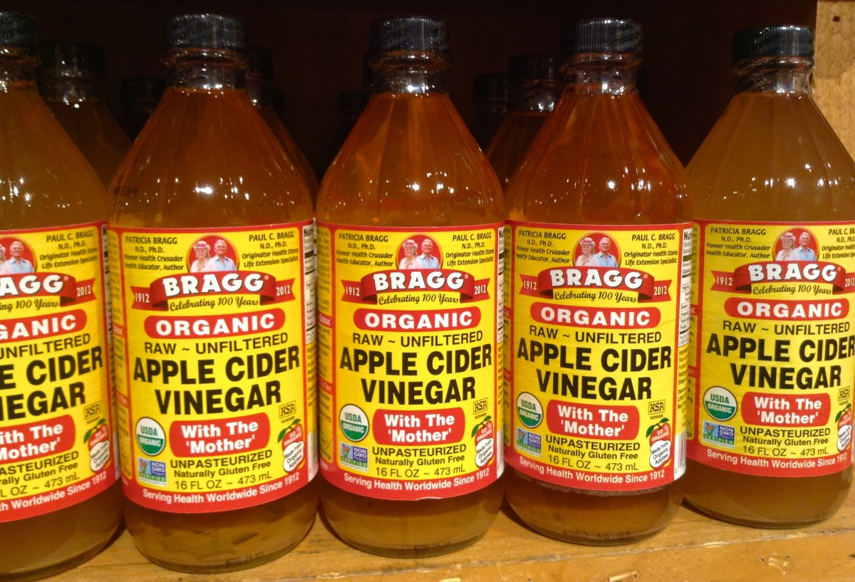 """This is one commercial brand of ACV. You can see the sediment or """"mother"""" at the bottom."""